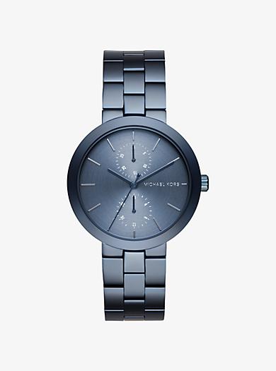 Garner Navy-Tone Watch by Michael Kors