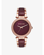 Parker Rose Gold-Tone and Acetate Watch