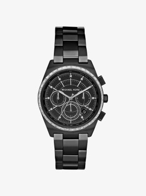 Vail Black-Tone Watch by Michael Kors
