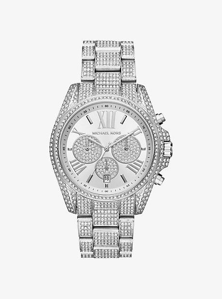 Bradshaw Pave Silver-Tone Watch