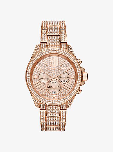 Wren Pavé Rose Gold-Tone Watch by Michael Kors