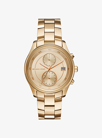 Briar Gold-Tone Watch by Michael Kors