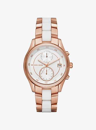 Zweifarbige Armbanduhr Briar by Michael Kors