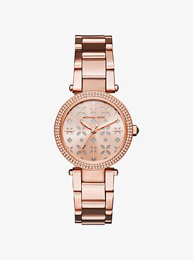 Armbanduhr Parker im Rosé-Goldton by Michael Kors