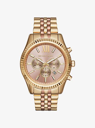 Lexington Two-Tone Watch  by Michael Kors