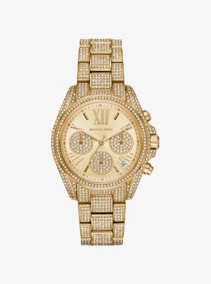 마이클 코어스 메탈 시계 Michael Kors Mini Bradshaw Pavé Gold-Tone Watch,GOLD