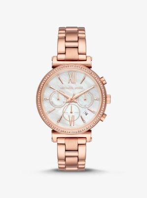 마이클 코어스 메탈 시계 Michael Kors Sofie Pave Rose Gold-Tone Watch,ROSE GOLD