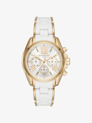 Michael Kors Bradshaw Gold-Tone and Silicone Watch,GOLD