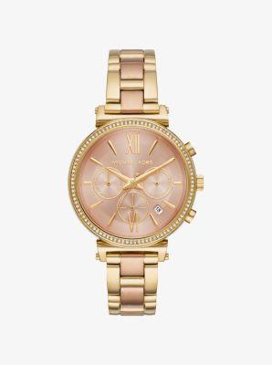 마이클 코어스 메탈 시계 Michael Kors Sofie Pave Two-Tone Watch,GOLD