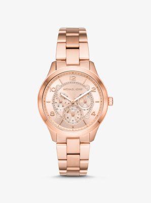 마이클 코어스 Michael Kors Runway Rose Gold-Tone Watch,ROSE GOLD