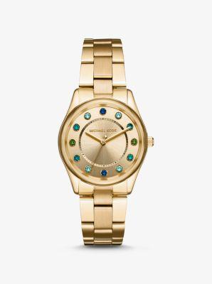 마이클 코어스 Michael Kors Colette Gold-Tone Watch,GOLD