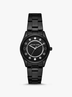 마이클 코어스 Michael Kors Colette Black-Tone Watch,BLACK