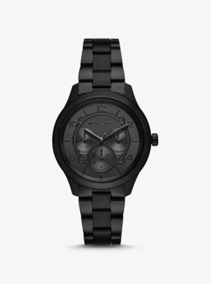 마이클 코어스 메탈 시계 Michael Kors Runway Black-Tone Watch,BLACK