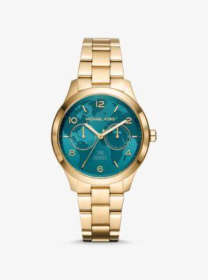 Michael Kors Watch Hunger Stop Runway Gold-Tone Watch,GOLD