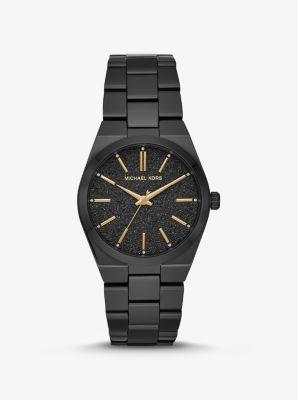 마이클 코어스 메탈 시계 Michael Kors Channing Black-Tone Watch,BLACK
