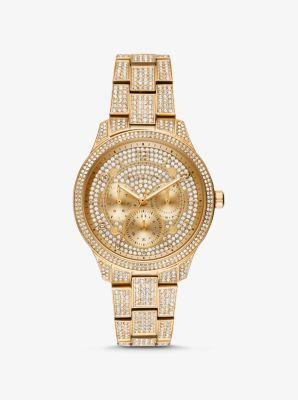 마이클 코어스 메탈 시계 Michael Kors Runway Pave Gold-Tone Watch,GOLD