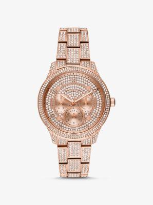 마이클 코어스 메탈 시계 Michael Kors Runway Pave Rose Gold-Tone Watch,ROSE GOLD