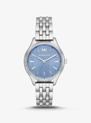 Michael Kors Lexington Silver-Tone Watch,SILVER