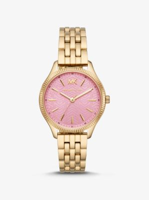 Michael Kors Lexington Gold-Tone Watch,GOLD
