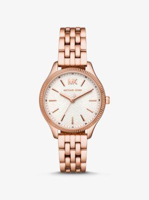 Michael Kors Lexington Rose Gold-Tone Watch,ROSE GOLD