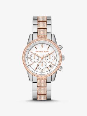 Michael Kors Ritz Pave Two-Tone Watch,TWO TONE