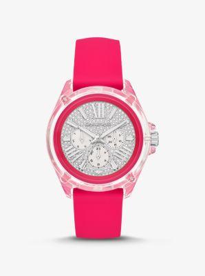 Michael Kors Wren Pave Neon Watch,PINK
