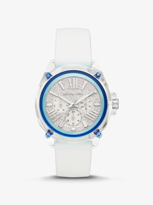Michael Kors Wren Pave Watch,WHITE