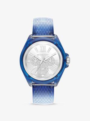 Michael Kors Wren Embossed Watch,BLUE