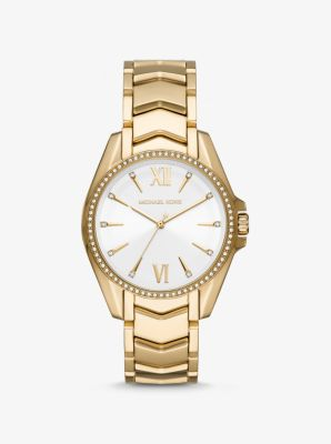 Michael Kors Whitney Gold-Tone Watch,GOLD