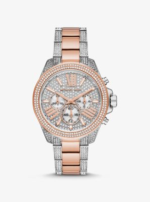 Michael Kors Wren Pave Two-Tone Watch,TWO TONE