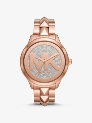 Michael Kors Runway Mercer Rose Gold-Tone Watch,ROSE GOLD