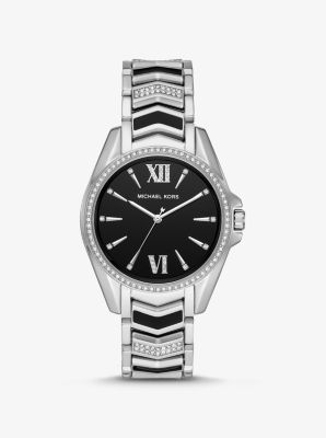 Michael Kors Whitney Silver-Tone and Enamel Watch,SILVER
