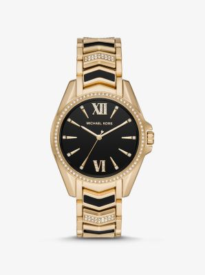 Michael Kors Whitney Gold-Tone and Enamel Watch,GOLD
