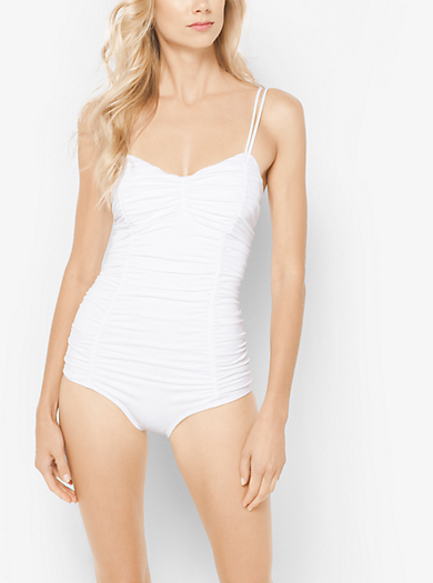 Ruched Maillot by Michael Kors