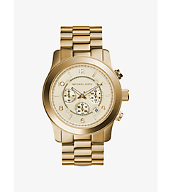 Runway Oversized Gold-Tone Stainless Steel Watch by Michael Kors
