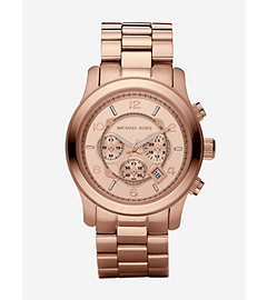 Runway Oversized Rose Gold-Tone Stainless Steel Watch
