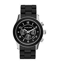 Runway SilicOne and Black Stainless Steel Watch