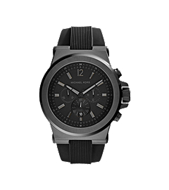 Dylan Black Stainless Steel Oversized Watch