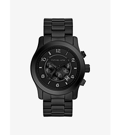 Runway Black Stainless Steel Watch