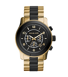Runway Gold-Tone and Black Stainless Steel Watch