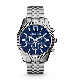 Lexington Silver-Tone Stainless Steel Watch