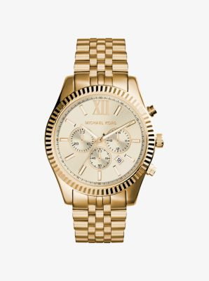 Lexington Gold-Tone Watch by Michael Kors