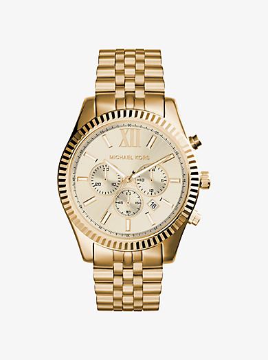 Armbanduhr Lexington im Goldton by Michael Kors