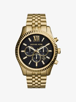 Lexington Gold-Tone Watch by Michael Kors