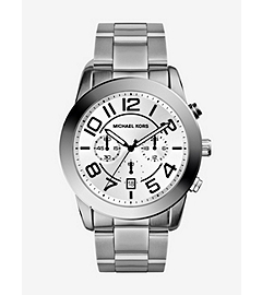 Mercer Silver-Tone Stainless Steel Watch