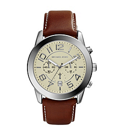 Mercer Silver-Tone Stainless Steel and Leather Watch