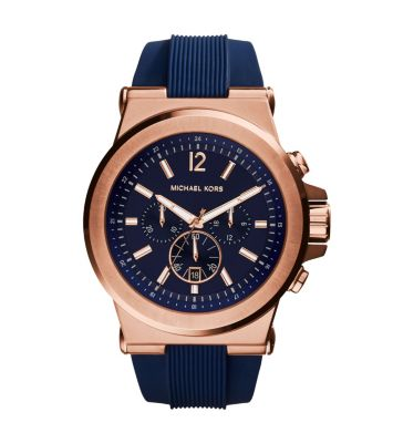 마이클 코어스 손목시계 Michael Kors Oversized Dylan Rose Gold-Tone and Silicone Watch,ROSE GOLD