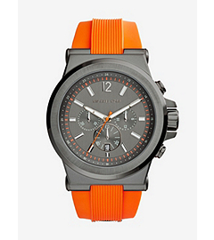 Dylan Gunmetal Stainless Steel and SilicOne Watch