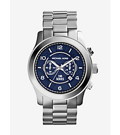 Watch Hunger Stop Oversized Runway Silver Watch by Michael Kors