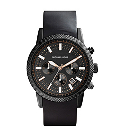Scout Black Stainless Steel and SilicOne Watch